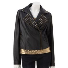 Rock and Republic Studded Motorcycle Jacket
