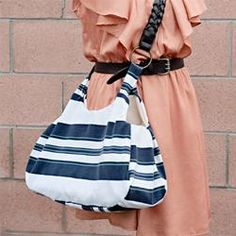 Up-Cycle a Polo Shirt Into a Bag & NO-SEW easy and quick stylish tote bag made from a pillow case ... pillowsntoast.com
