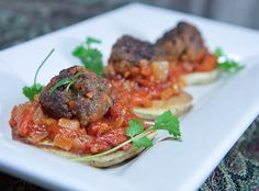 Moroccan Lamb Meatballs with Spicy Tomato Chutney from Sis Boom Blog. Yum!