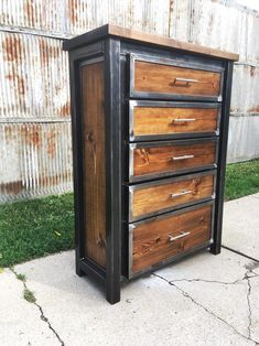 Custom Industrial Dresser Chest of Drawers Wardrobe Armoire image 1 Custom Industrial Dresser Chest of Drawers Wardrobe Armoire image 1 Industrial Dresser, Modern Industrial Furniture, Unique Furniture, Furniture Projects, Custom Furniture, Industrial Lamps, Futuristic Furniture, Funky Furniture, Industrial Style