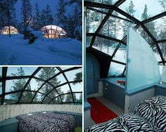 Hotel Kakslauttanen, Finland. This would be an interesting place to stay