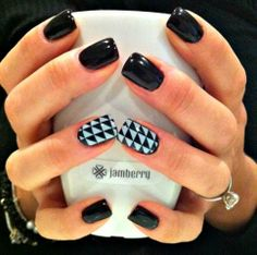 Jamberry on Acrylic Nails