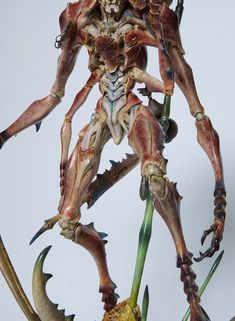 ArtStation - Sazen Lee unicorn beetleman paint up, zi chen gong Model Kits, Chen, Warriors, Sculpting, Unicorn, Statue, Artwork, Painting, Insects