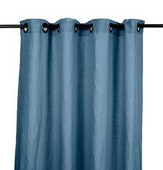 Harmony - Rideaux en lin lavé Viti - Bleu Petrole - 140x280 cm - Home Beddings and Curtains