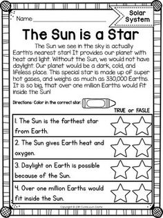 Solar System: Space Unit for Grades by Curriculum Castle Planets Activities, Space Activities For Kids, 2nd Grade Activities, 1st Grade Worksheets, Science Worksheets, Science Lessons, Sequencing Worksheets, Science Projects, Science Activities