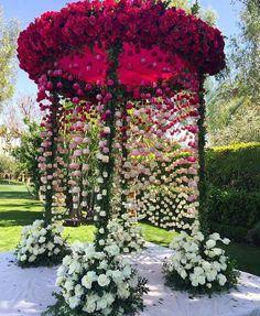 Splendid rose decor #IndianWeddings
