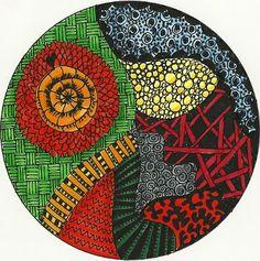 Trace a CD & doodle 8