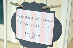 shower ideas, coco chanel, girl baby showers, baby girls, quot, cocochanel, babi shower, parti, bridal showers