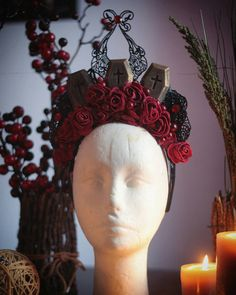 Graveyard Queen Headdress  Fantasy von AncientHeartsShop auf Etsy