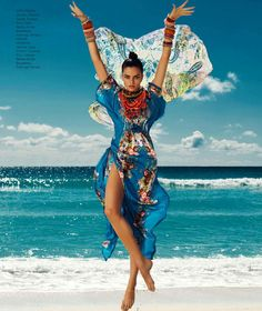♂ fashion editorials feminine beauty lady in color blue barbara fialho by danny cardozo for harper's bazaar mexico july 2013