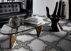 iGattipardi by 14 Ora Italiana: Tradition meets contemporary design in this unique collection of tiles in 32 Different Styles for eclectic homes & businesses Encaustic Tile, Oras, Tile Patterns, Contemporary Design, Tiles, Dining Table, Ceramics, Flooring, Traditional