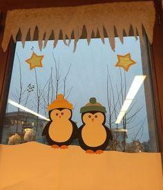 Fenster und eine Schneelandschaft Weil es etwas viele Fotos geworden wären, möchte ich neben den Fensterbilder-Pinguinen auch unsere ...