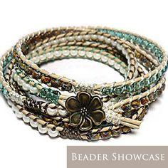 Free Wrap Bracelet Project | Tricks to Laddering- Sage – Beadshop.com
