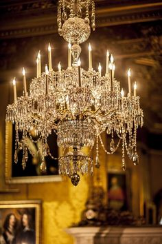Alnwick Castle stars as Brancaster Castle in Downton Abbey Christmas special Luxury Chandelier, Candle Chandelier, Antique Chandelier, Chandelier Lighting, Home Lighting, Crystal Chandeliers, Elegant Chandeliers, Luz Artificial, Downton Abbey