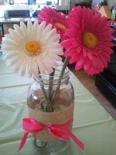 country baby shower for girl with mason jars | Baby Shower Edition Part I…The Decor | Lucy Jane's Best