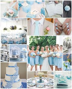 Pastel Blue Wedding Color Schemes - Page 2 of 31 - Wedding Dream - Ivory Baby Blue Wedding Theme, Pastel Wedding Colors, Wedding Color Schemes, Wedding Themes, Wedding Decorations, Wedding Ideas, Bleu Pastel, Rose Pastel, Summer Bridesmaid Dresses