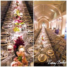 An elegant wedding reception at @DecaturHouse #DecaturHouse