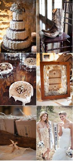 rustic wedding ideas   20 Country Rustic Wedding Theme Ideas…