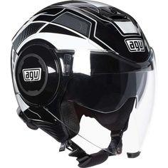 ΚΡΑΝΗ AGV : Κράνος Jet #AGV Fluid Multi-Soho Black/White Agv Helmets, Street Racing, Jet, Biker, Black And White, Soho, Motorcycles, Horse, Iron