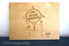 Dreamcatcher Cutting Board Personalized by TheCuttingBoardShop