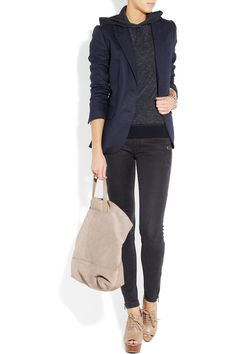 J.CREW  Hooded cotton-blend sweater