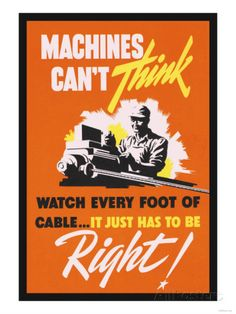 Machines Can't Think Posters at AllPosters.com