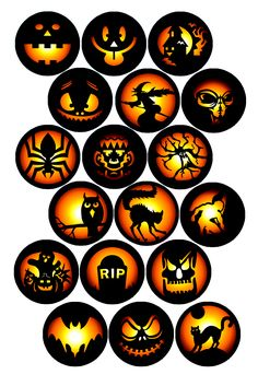 """Halloween Pack Bottle cap image pack Formatted for printing on 4"""" x 6"""" photo paper"""