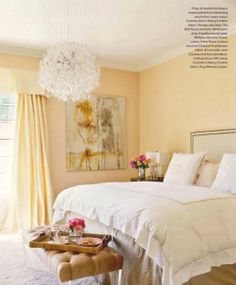 South Shore Decorating Blog: Dreamy Bedrooms That Inspire. I love the seat at the end of the bed