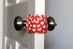 Door jammer. Prevents toddlers from locking themselves into a room and also makes closing the door very quiet for newborns. Great gift for baby shower
