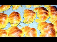 Cornuri pufoase din aluat dospit (cu rahat, nuca, gem, ciocolata) | Gina Bradea - YouTube Foil Pack Dinners, Recipe Steps, Pastry And Bakery, Hot Dog Buns, Food Videos, Food To Make, Veggies, Bread, Homemade