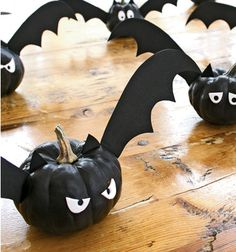 Bat pumpkins!! #halloween