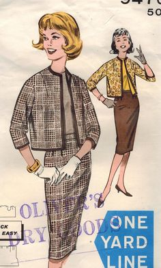 1960s Butterick 9476 Vintage Sewing Pattern Misses Skirt, Jacket Size 12 Bust 32, Size 14 Bust 34 on Etsy, $10.00