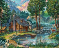 RYGHEWE Classic Puzzle DIY Collectibles Kit Adults Childrens Puzzle Toy Unique Gift Home Decor Intellectual Development A Landscape Jigsaw Puzzles 1000 Pieces for Adults
