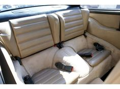 1986 PORSCHE 911 CARRERA 930 2+2 COUPE 3.2-liter - Beige Leather Interior Rear Seats - Backrests Upright and when folded down provides some extra luggage space. Rear seats are standard on all the five 930 variant models.