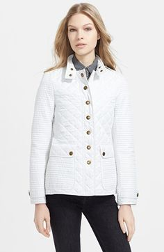 Burberry Brit 'Willsmoore' Quilted Snap Front Jacket