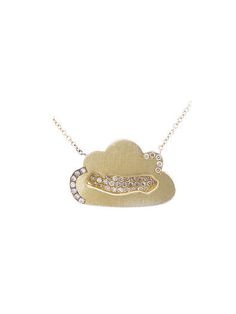 Andrea Fohrman - Cloud Pendant with Diamonds in Yellow Gold Fashion Accessories, Gold Necklace, Fine Jewelry, Jewellery, Clouds, Stars, My Style, Yellow, Pendant