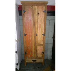 Armário fechado demolição com tinta- 1596 #arte #moveis #rusticos - www.artemoveisrusticos.com.br