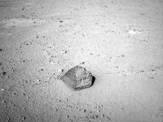 'Jake Matijevic' Contact Target for Curiosity    NASA's Mars rover Curiosity has driven up to a football-size rock that will be the first for the rover's arm to examine.      Image credit: NASA/JPL-Caltech