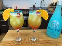 The Cure for Blue Balls Cocktail - For more delicious recipes and drinks, visit us here: www.tipsybartender.com