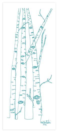 line drawing stitching idea