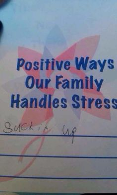 Great suggestion for handling stress.