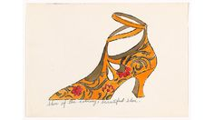 Andy Warhol (American, Untitled from À la recherche du shoe perdu. One from a portfolio of eighteen offset lithographs with synthetic dye-based ink additions. Andy Warhol Pop Art, Andy Warhol Drawings, Andy Warhol Prints, Moma Shoes, Pittsburgh, Pop Art Movement, You Draw, Museum Of Modern Art, American Artists