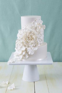 7 All White Wedding Cakes ~ we ♥ this! moncheribridals.com