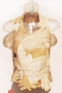 Beautiful recycled piece again by Martin margiela p. his work really interests me as it shows the high end side of up cycling. I really question why this can't be archived by a lot of high end companies . This image was found in his book  for his up cycled collection .
