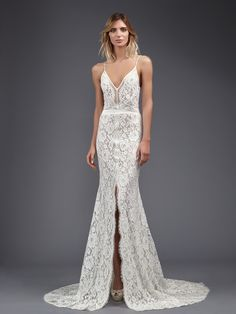 Victoria KyriaKides' Weightless Lace Gowns for Spring 2017 | TheKnot.com