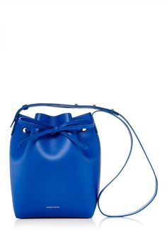 We love this Mansur Gavriel Royal Blue Leather Mini Bucket Bag on ShopStyle