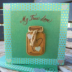 Jar Of Hearts, Half Price, Valentine Day Cards, My Etsy Shop, Awesome, Unique Jewelry, Handmade Gifts, Green, Vintage