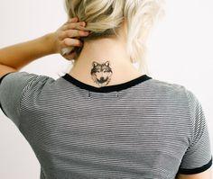 2 Wolf Temporary Tattoos SmashTat by SmashTat on Etsy