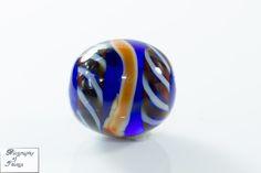 Handmade glass bead Callmer's B422 /Ribe