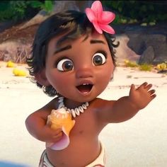 Baby Moana. Moana movie scenes